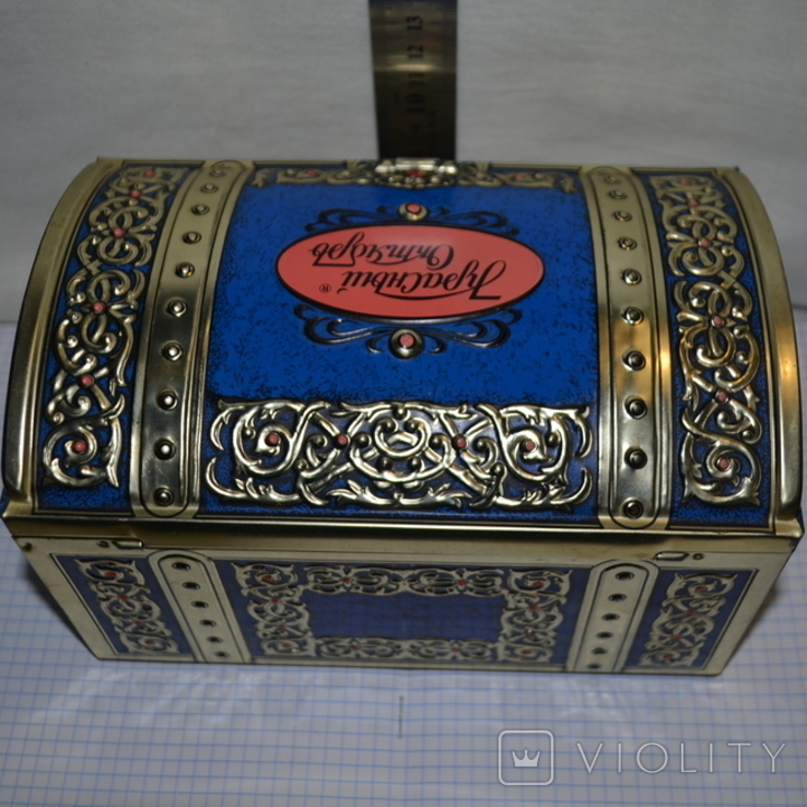 Канфеты Красный Октябрь большая коробка сундук, фото №5