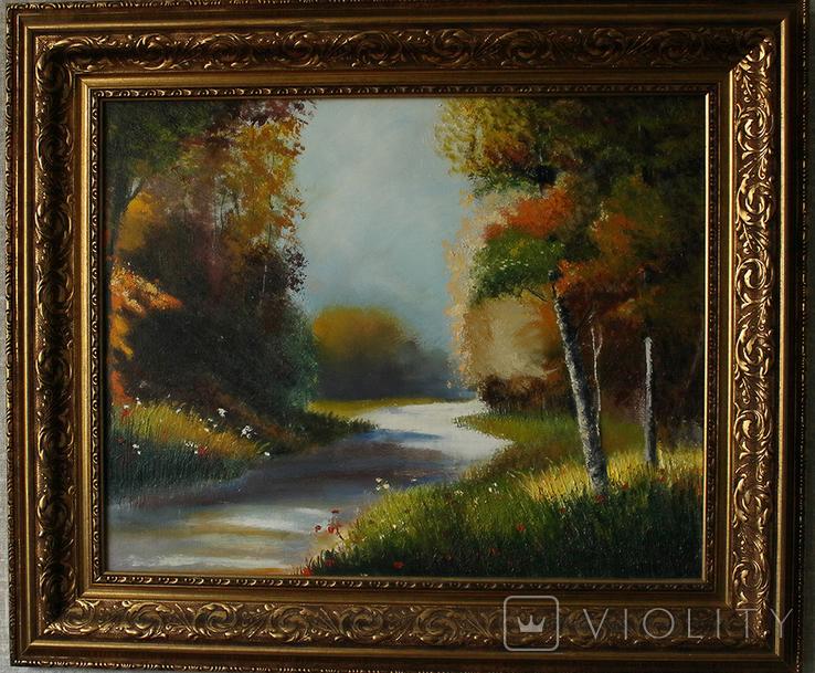 """Картина маслом""""Осень"""""""