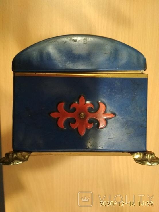 Коробка сундук из под конфет фабрики Красный Октябрь ,СССР, фото №5