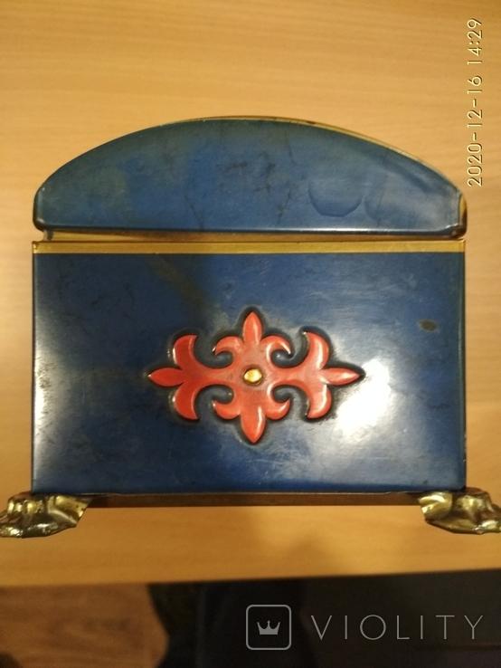 Коробка сундук из под конфет фабрики Красный Октябрь ,СССР, фото №6