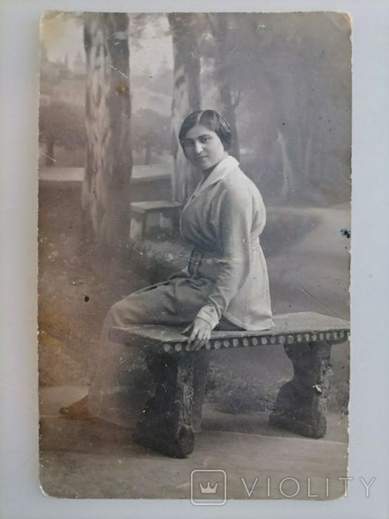 Открытка Девушка Портрет 1 шт. Германия 1910-е годы, фото №2