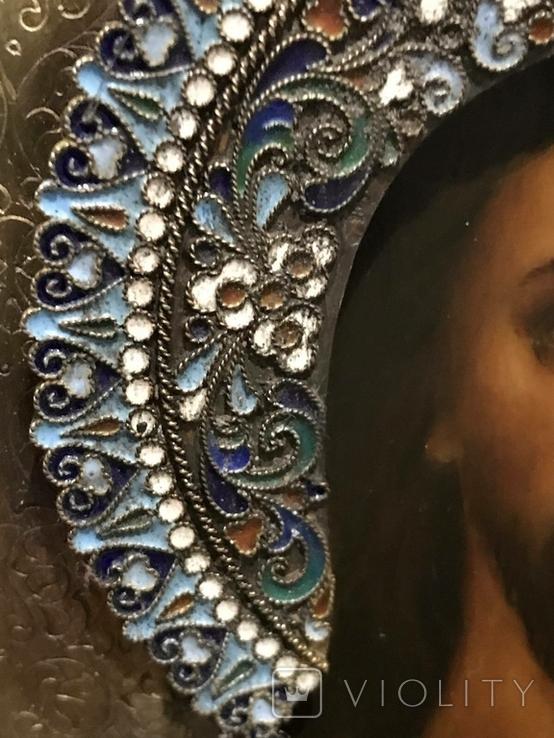 Иоан Креститель и Св. Муч. Нажежда. 84. Огненое золочение. 31 х 27 см. Ємали., фото №8