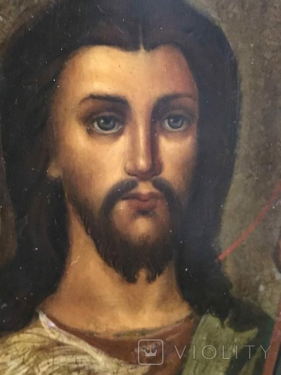 Иоан Креститель и Св. Муч. Нажежда. 84. Огненое золочение. 31 х 27 см. Ємали., фото №11