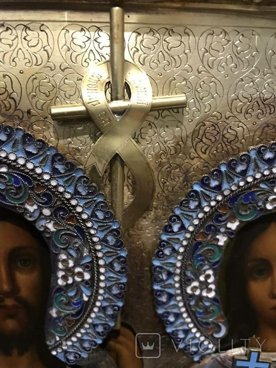 Иоан Креститель и Св. Муч. Нажежда. 84. Огненое золочение. 31 х 27 см. Ємали., фото №12