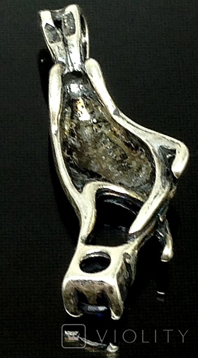 Кулон, синий камень, фото №3