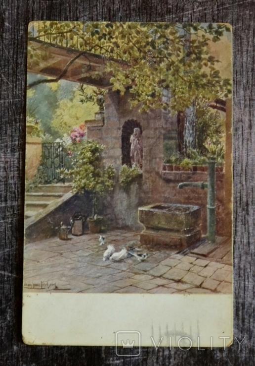 Старинная открытка Ludwig Hans Fischer: Alter hof. 1925 год., фото №2