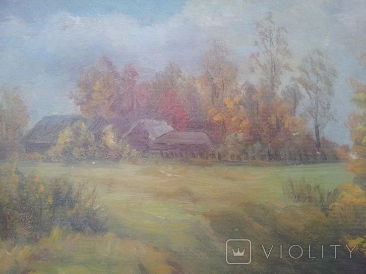 """""""Осень на хуторе"""". Н.Рыбкин. 1986г, фото №7"""