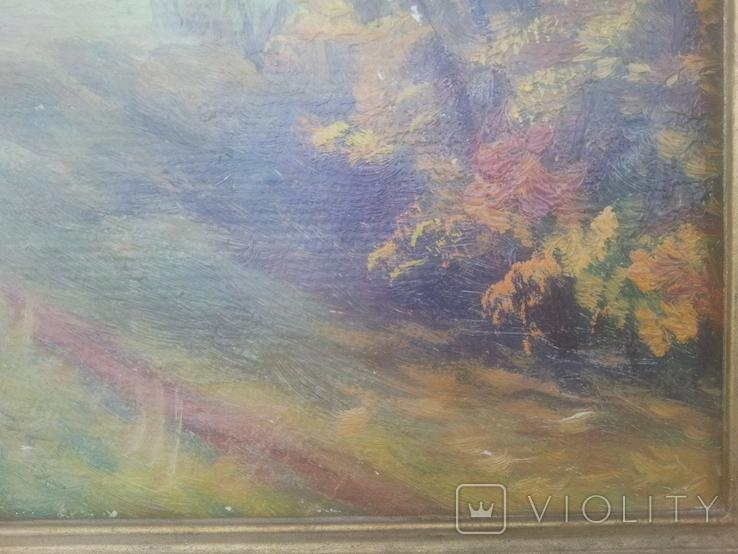 """""""Осень на хуторе"""". Н.Рыбкин. 1986г, фото №8"""