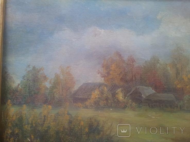 """""""Осень на хуторе"""". Н.Рыбкин. 1986г, фото №9"""