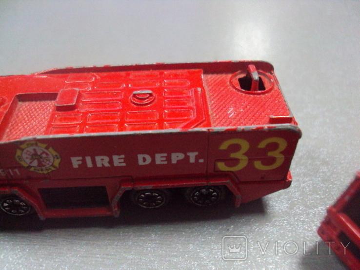 Машинка машина пожарная лот 2 шт, фото №6