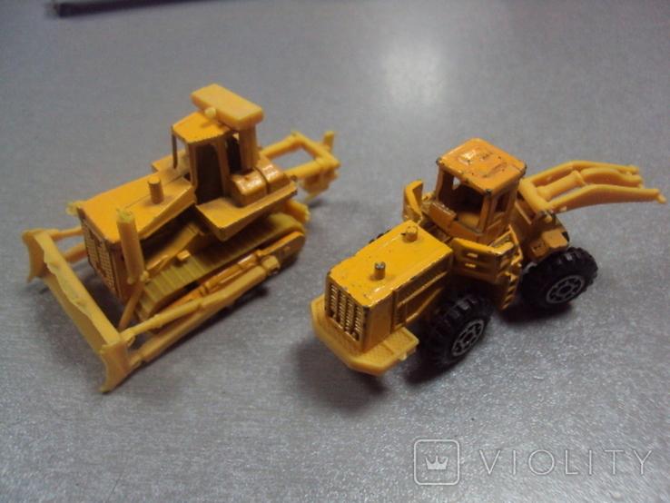 Машинки дорожно-ремонтная техника гонконг лот 2 шт, фото №2