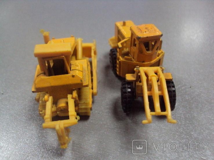 Машинки дорожно-ремонтная техника гонконг лот 2 шт, фото №6