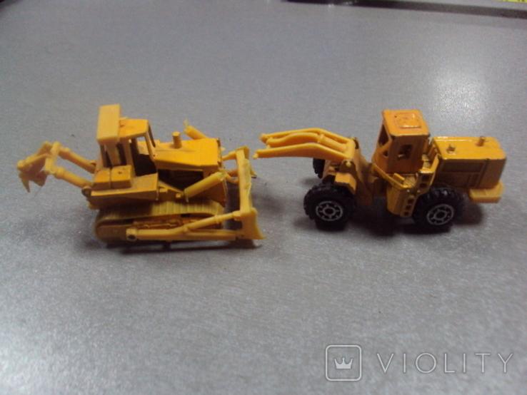 Машинки дорожно-ремонтная техника гонконг лот 2 шт, фото №7