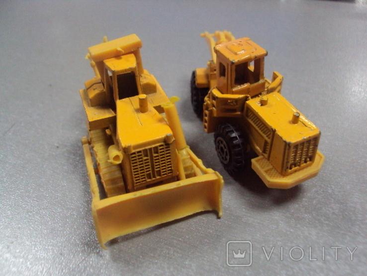 Машинки дорожно-ремонтная техника гонконг лот 2 шт, фото №10