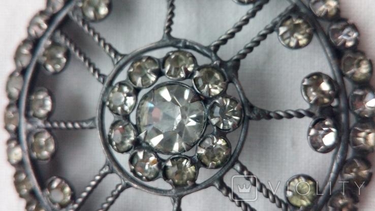 2596 кулон подвеска ссср серебро 875 камни, фото №4