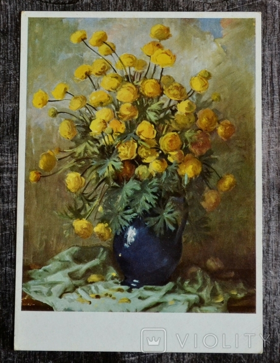 Винтажная открытка Munchener Bildkunstverlog August Lengauer. Цветы. Германия., фото №2