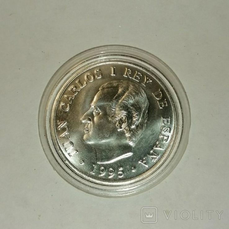 Серебряная монета. Испания, 1995, Председательство Испании в Европейском Союзе, фото №2