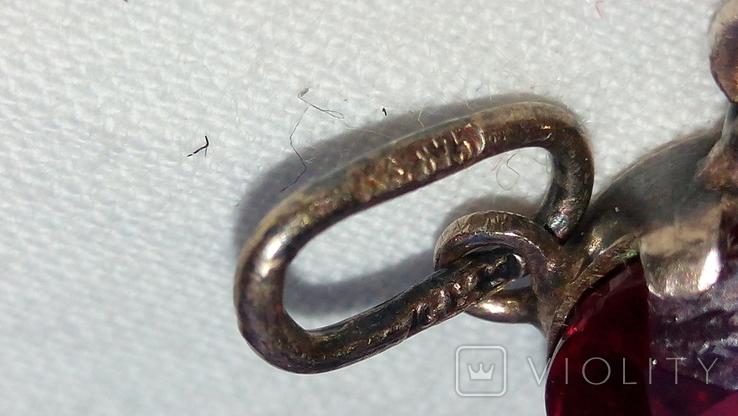 2601 кулон подвеска ссср серебро 875 позолота большой камень в центре, фото №9