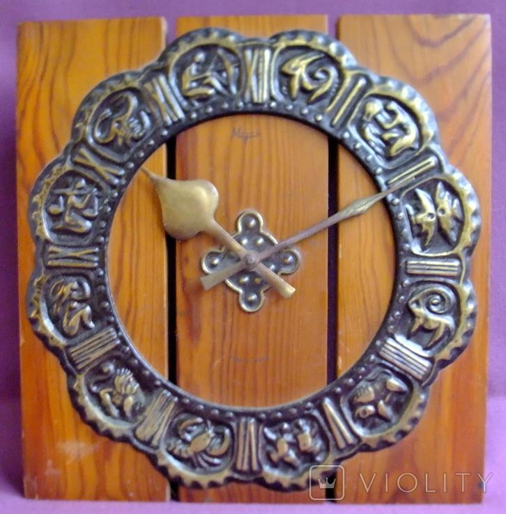 Часы МАЯК - гороскоп / знаки зодиака настенные. Сердобский часовой завод., фото №3