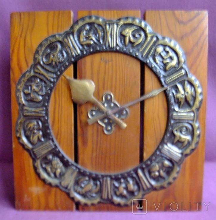 Часы МАЯК - гороскоп / знаки зодиака настенные. Сердобский часовой завод., фото №7