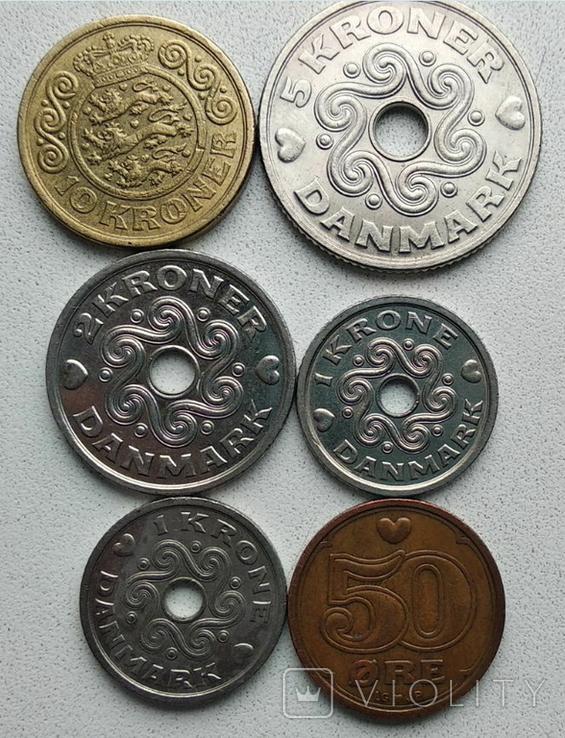 Монеты Дании. 6 шт. в лоте. 19.5 крон (по курсу), фото №2