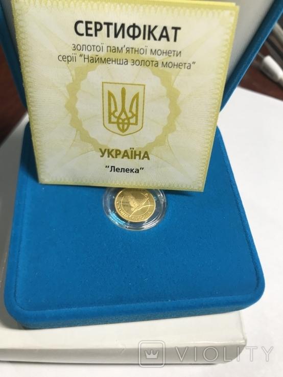 2 Гривны Аист Золото 999.9 пробы. / 2 гривні Лелека 2004 г  сертификат № 2425, фото №3