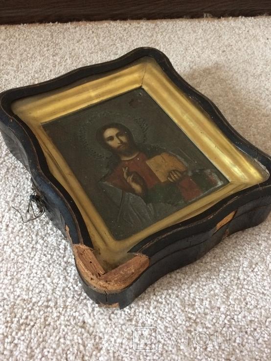 Икона Господь Вседержитель . Размер без киота 17.5 х 14 см, фото №5