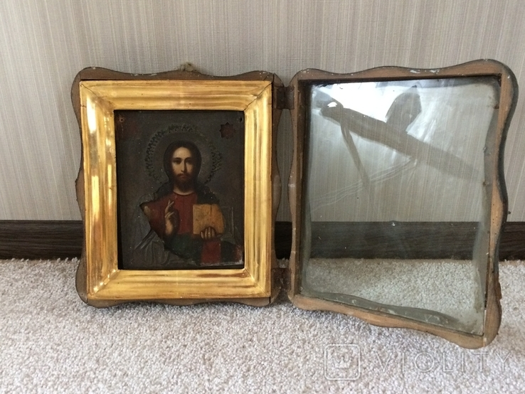 Икона Господь Вседержитель . Размер без киота 17.5 х 14 см, фото №8