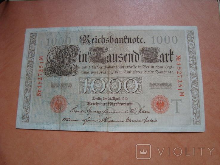 1000 марок 1910 р, фото №2