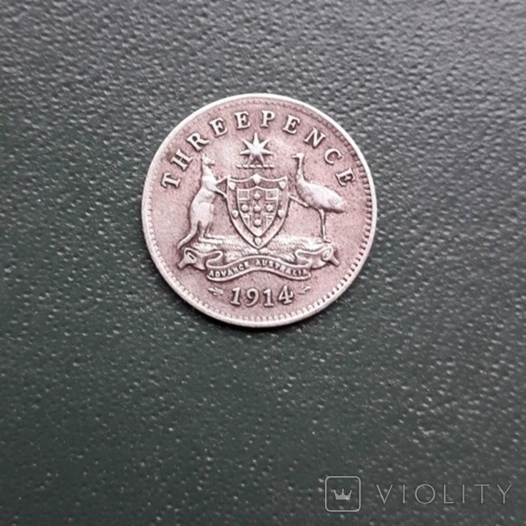 3 Пенса 1914 Австралия, фото №4