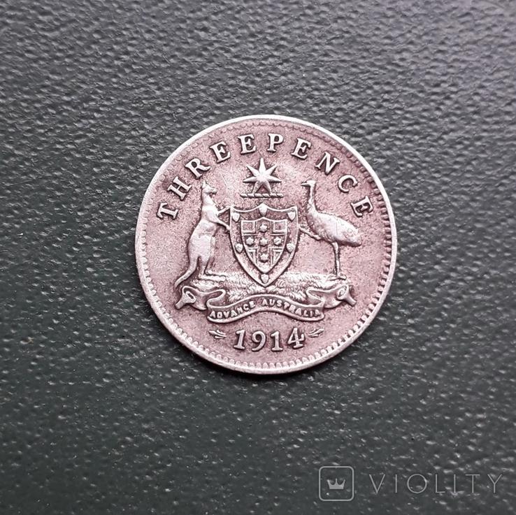 3 Пенса 1914 Австралия, фото №7