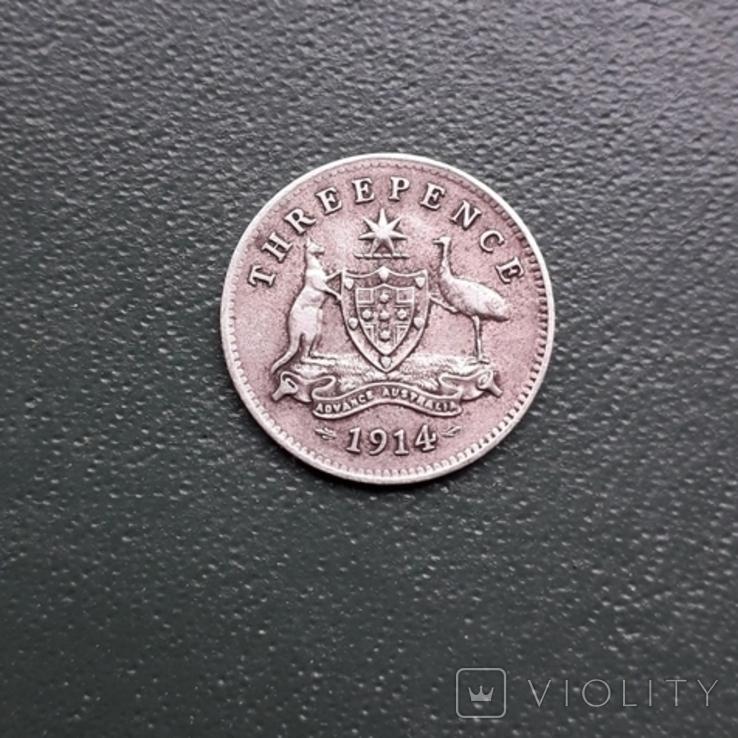 3 Пенса 1914 Австралия, фото №8