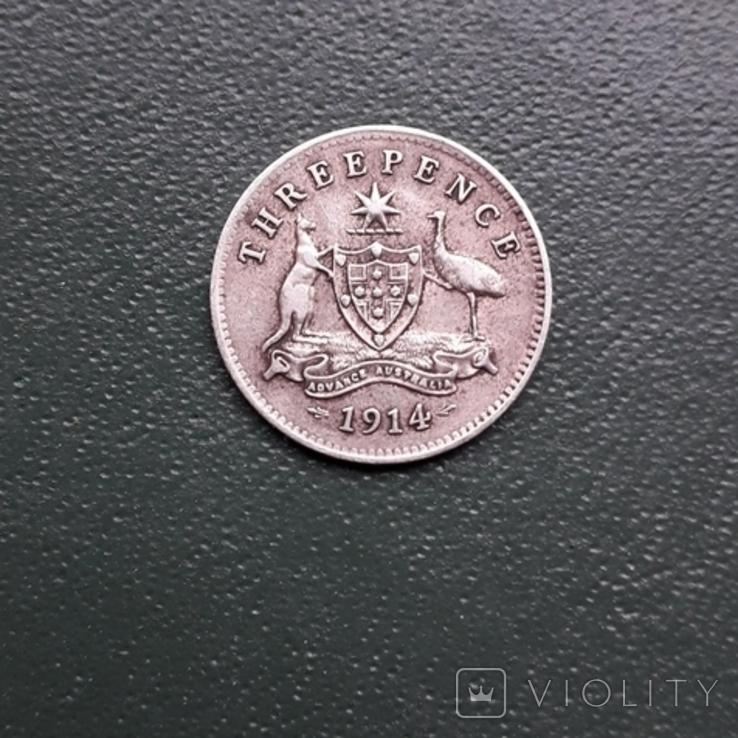 3 Пенса 1914 Австралия, фото №10