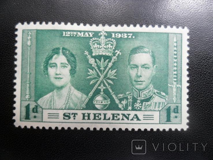 Британские колонии. Остров Святой Елены. 1937 г. МН, фото №2