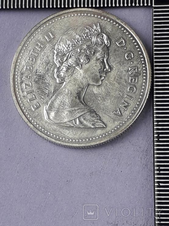 1 доллар, Канада, 1983 год, XII Универсиада в Эдмонтоне, серебро, фото №3