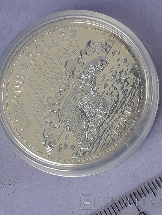 1 доллар, Канада, 1980 год, 100 лет Арктическим территориям, серебро, фото №2
