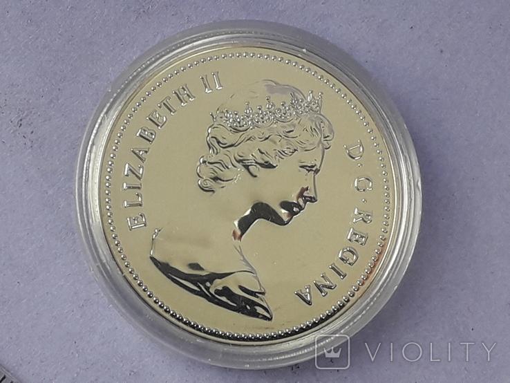 1 доллар, Канада, 1980 год, 100 лет Арктическим территориям, серебро, фото №4