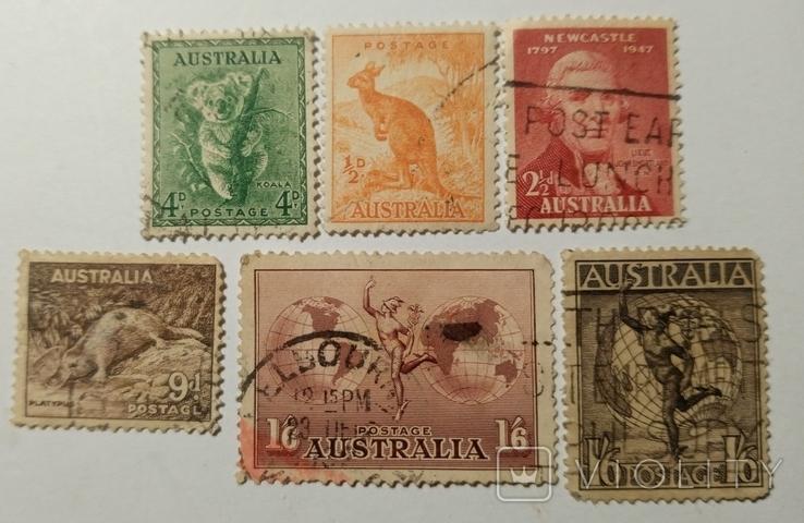 Марки Австралии (6шт), фото №2