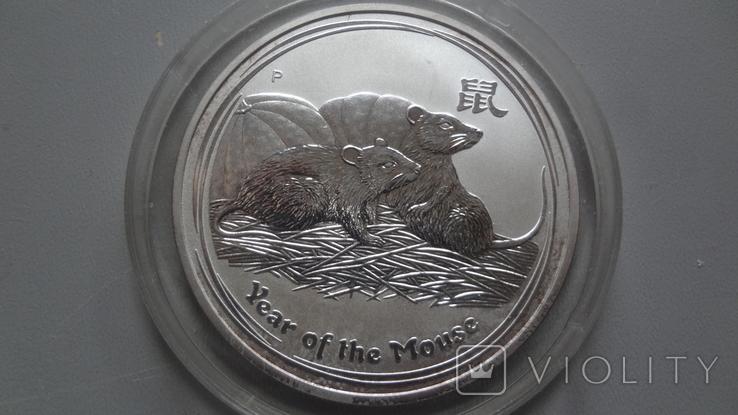 1 доллар 2008 Австралия год Мыши серебро унция 999, фото №3