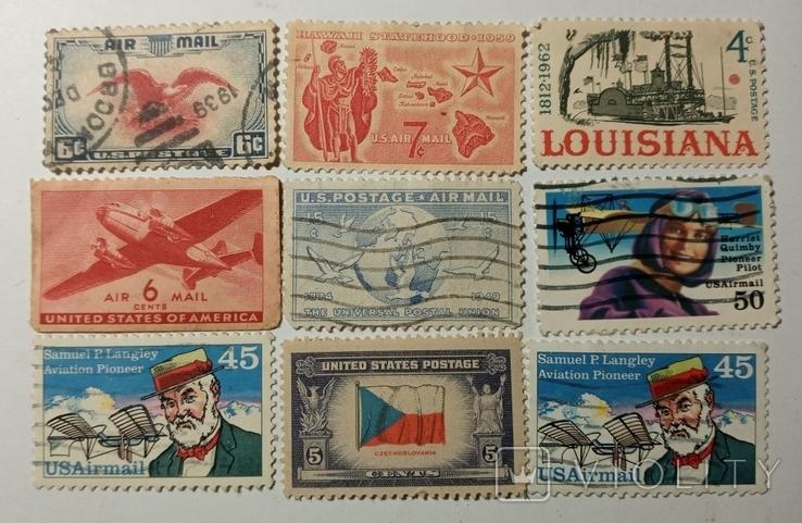 Почтовые марки США (9шт), фото №2