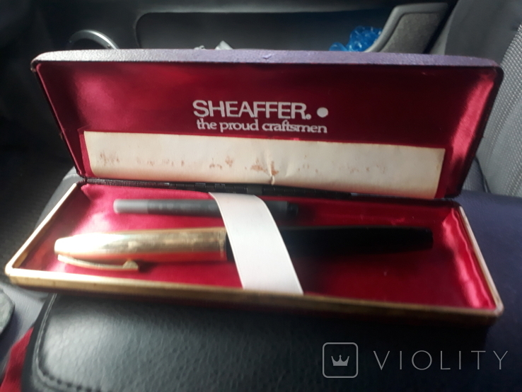 Ручка sheaffer с золотим пером, фото №2