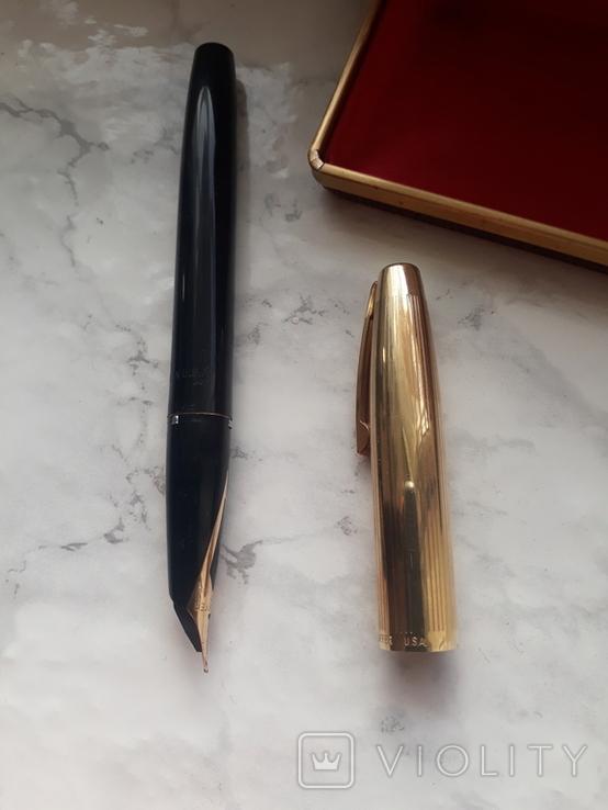 Ручка sheaffer с золотим пером, фото №4
