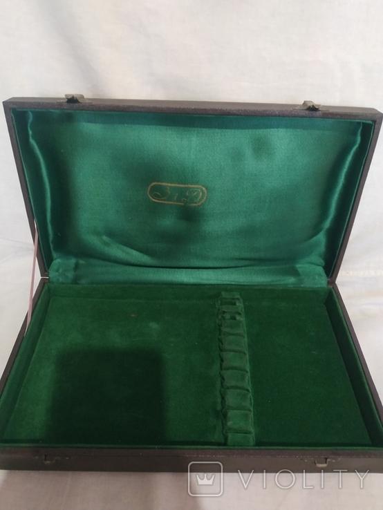Мельхиоровый набор в упаковке, фото №4