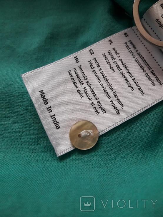 Женская бирюзовая рубаха. Кружево, крючёк. Charles Vogelr. Индия, фото №8