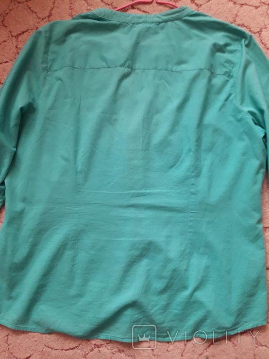 Женская бирюзовая рубаха. Кружево, крючёк. Charles Vogelr. Индия, фото №9