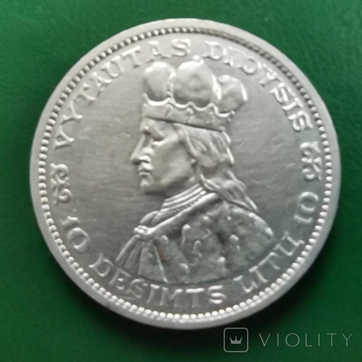 10 лит Литва 1936 г., фото №3