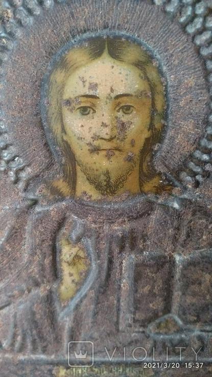 Икона Спасителя 11 на 13см, фото №3