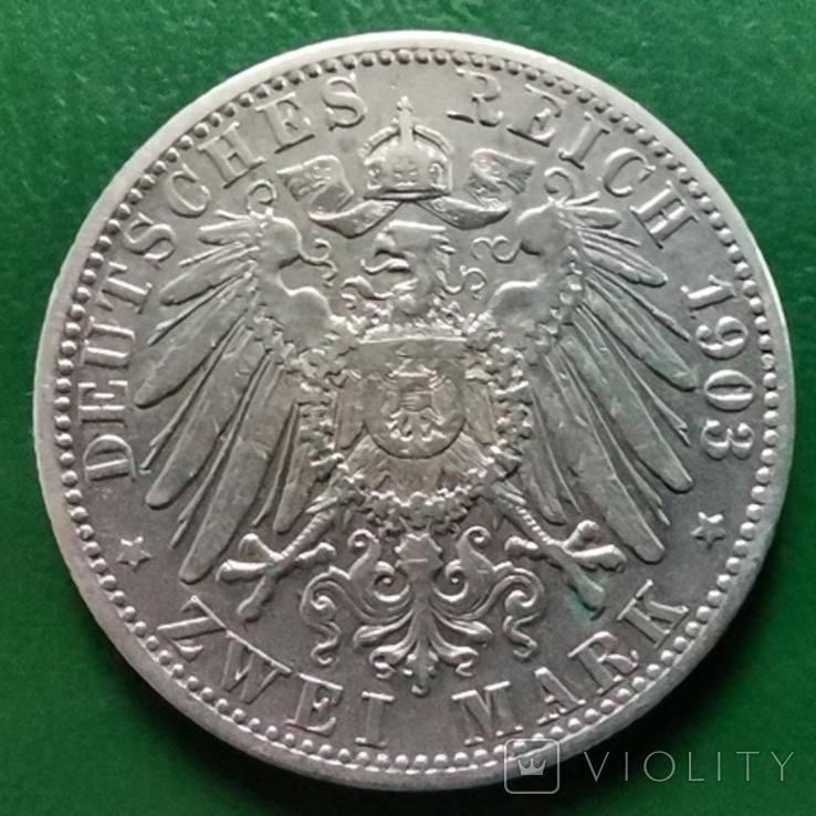 2 марки Вюртемберг 1903 г., фото №3
