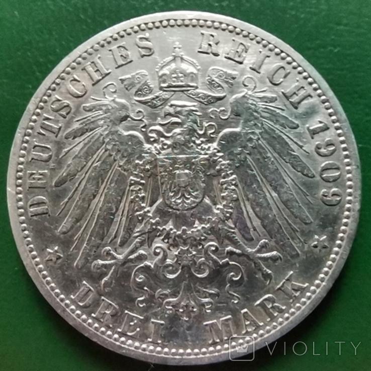 3 марки Пруссія 1909 г., фото №3