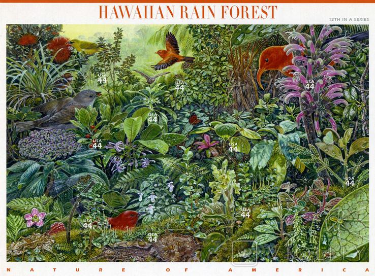 США 2010 - Гавайский лес - серия Природа Америки - 44с, фото №2